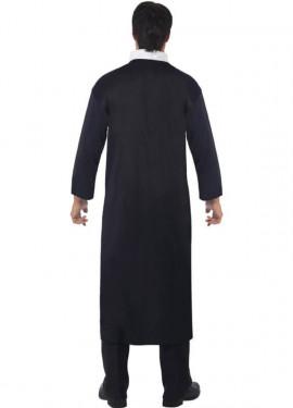 Déguisement de Prêtre Catholique noir pour homme plusieurs tailles
