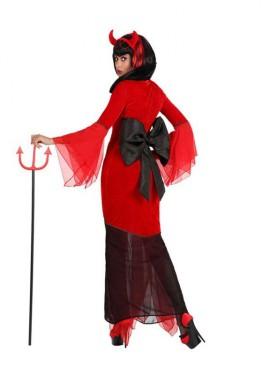 Disfraz de Diablesa con lazos para mujer
