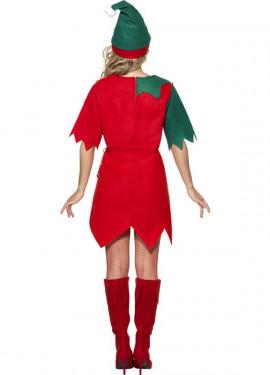 Déguisement Lutin ou Elfe rouge et vert pour femme plusieurs tailles