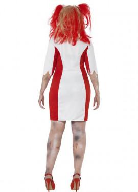 Disfraz de Enfermera Zombie con curvas para mujer