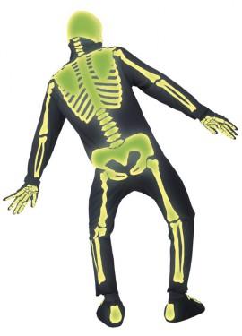 Disfraz de Esqueleto Fluorescente para hombre