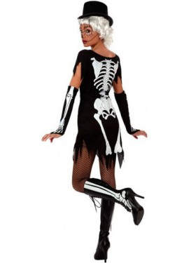Disfraz de Esqueleto sexy para mujeres