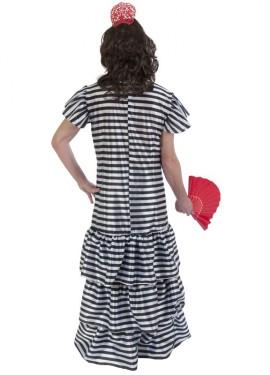Disfraz de flamenca presidiaria para hombre