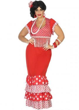 Disfraz de Flamenca Rojo para mujer