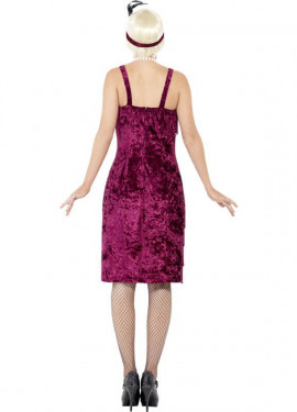 Disfraz de Flapper años 20 Burdeos para mujer