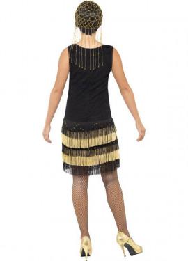 Disfraz de Flapper años 20 con Flecos para mujer