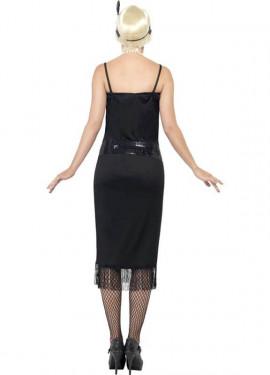 Disfraz de Flapper Locos años 20 Negro para Mujer