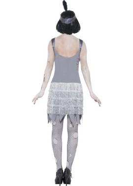 Disfraz de Flapper Zombie de los años 20 para Mujer