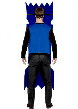 Disfraz de Galleta Navideña Azul con tabardo para adultos