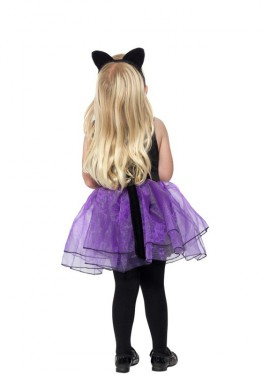 Déguisement de Petite Chate Noire et Violette pour fille et Bébé