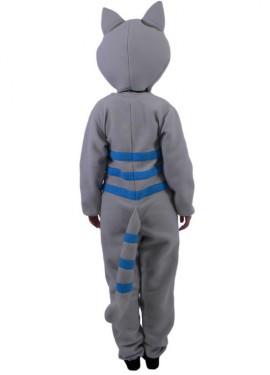 Déguisement de Chat Sonriant gris et bleu Deluxe pour adultes