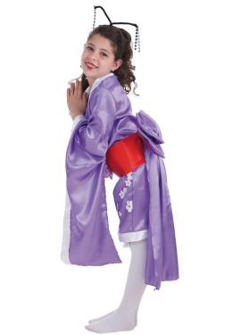 Déguisement Geisha avec des fleurs pour fille