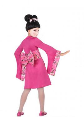 Déguisement de Geisha Rose avec fleurs pour fille