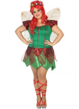 Disfraz de Hada Roja para mujer