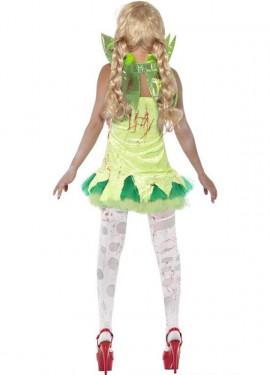 Disfraz de Hada Zombie Verde para Mujer