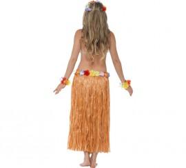 Déguisement de Hawaïenne Orange