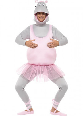 Disfraz de Hipopótamo bailarina para adulto