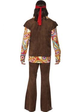 Disfraz de Hippy color Marrón para Hombre
