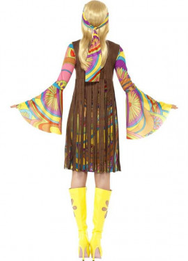 Disfraz de Hippy Fabulosa para Mujer