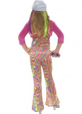 Disfraz de Hippy Multicolor para Niña