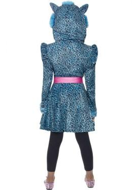 Disfraz de Leopardo Azul para Niña