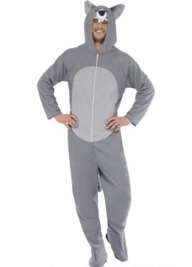 Disfraz de Lobo gris para adulto