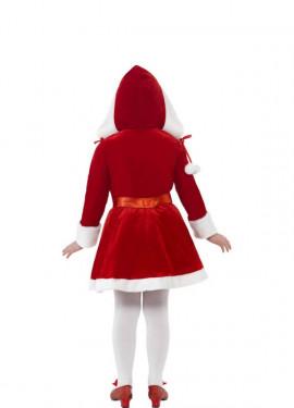 Déguisement de Mère Noël avec Boux pour fille