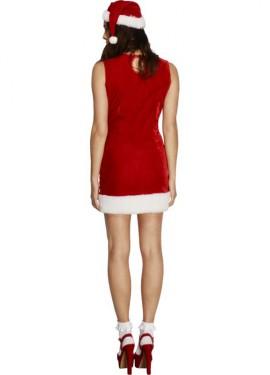Disfraz de Mamá Noel con lazo para mujer