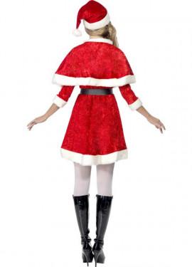 Disfraz de Mamá Noel de Terciopelo para mujer