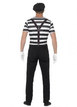 Disfraz de Mimo blanco y negro para hombre
