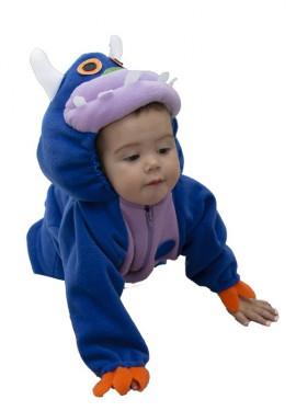 Disfraz de Monstruito azul para bebé