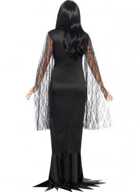 Disfraz de Morticia para mujer
