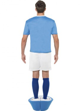 Disfraz de Muñeco Azul de Subbuteo para hombre