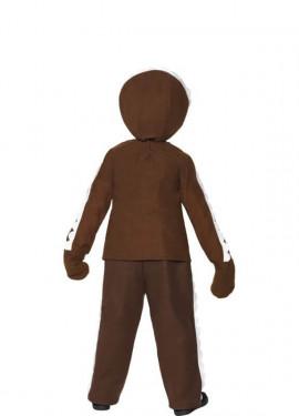 Disfraz de Muñeco Galleta de Jengibre Marrón para niño
