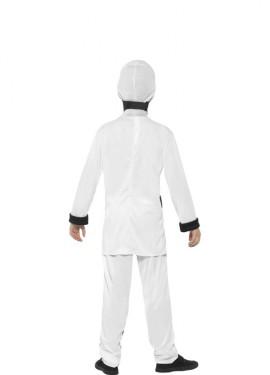 Disfraz de Ninja Blanco y Negro para niño