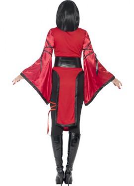 Disfraz de Ninja Dragón Rojo para mujer