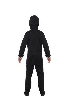 Disfraz de Ninja Negro y Amarillo para niño
