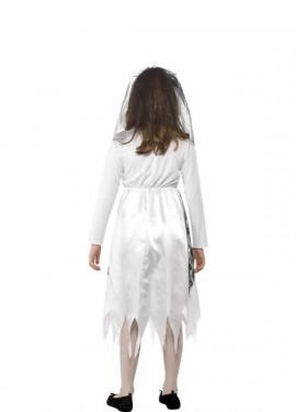 Disfraz de Novia Fantasma para niña