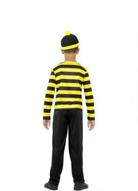 Disfraz de Odlaw de Dónde está Wally para niño