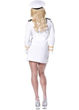 Disfraz de Oficial de Top Gun Blanco para mujer