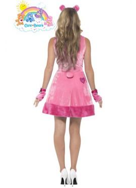 Disfraz de Oso Amoroso rosa para mujer