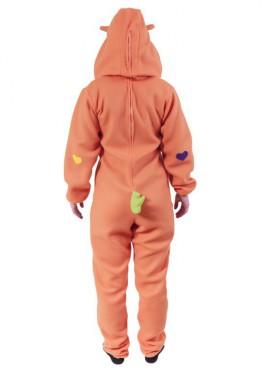 Disfraz de Oso Cariñoso Naranja para adultos