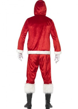 Disfraz de Papá Noel con sonido para hombre