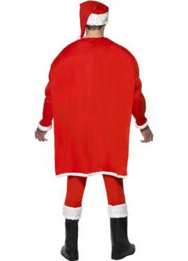 Disfraz de Papá Noel Musculoso para hombre