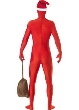 Disfraz de Papá Noel segunda piel para hombre