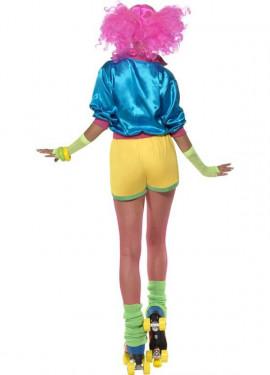 Disfraz de Patinadora de los años 80 para Mujer