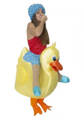 Disfraz de Patito de Baño a hombros para adultos