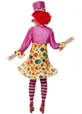 Déguisement de Clown Multicolore pour Femme plusieurs tailles