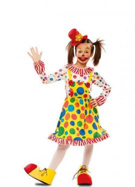 Disfraces De Payasa Circo Arlequines Y Bufones Para Niña