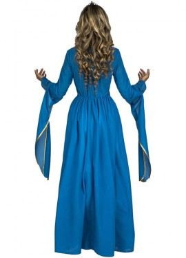 Déguisemetn de Princesse Médiéval Bleu pour femme